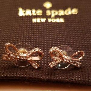Never Worn Kate Spade Rose Gold Bow Earrings